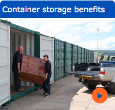 Container storage benefits